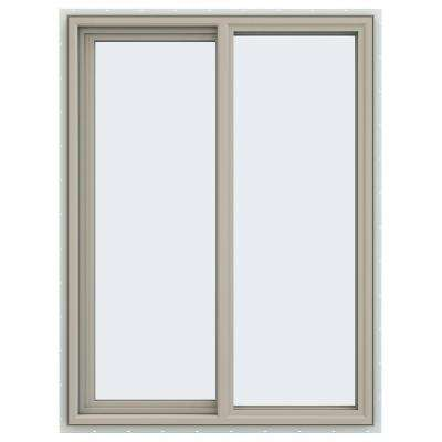 35.5 in. x 47.5 in. V-4500 Series Left-Hand Sliding Vinyl Windows - Tan