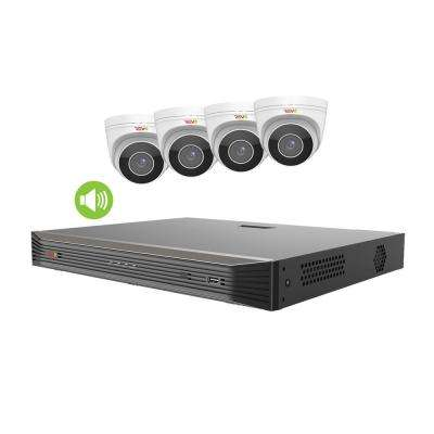 Ultra HD Audio Capable 8-Channel 2TB NVR Surveillance System with 4 4K Cameras