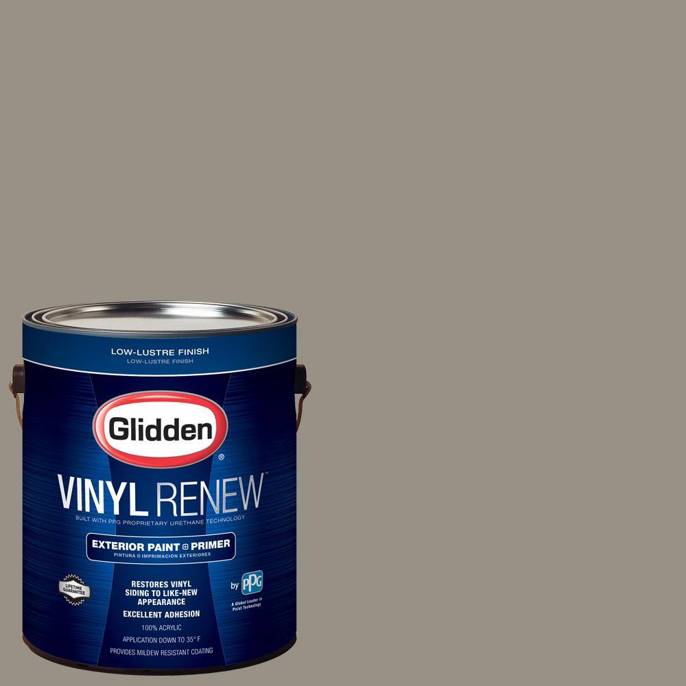 1 gal. #HDGWN51D Stone Castle Greige Low-Lustre Exterior Paint with Primer