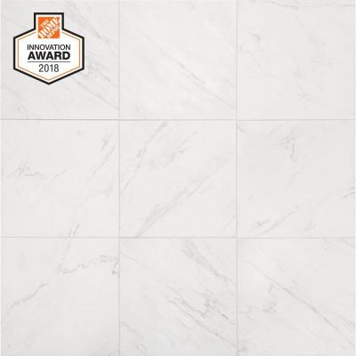 Carrara 18 in. x 18 in. Glazed Porcelain Floor and Wall Tile (17.6 sq. ft. / case)