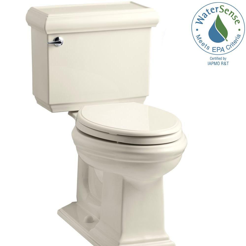 Memoirs Classic 2-piece 1.28 GPF Single Flush Elongated Toilet with AquaPiston