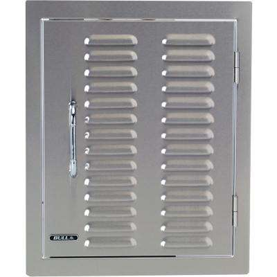 17.87 in. x 22 in. x 1.87 in. Built-in Vertical Single Storage Door Vented Louvered Design