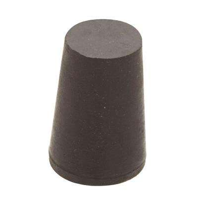 1 in. x 25/32 in. Black Rubber Stopper
