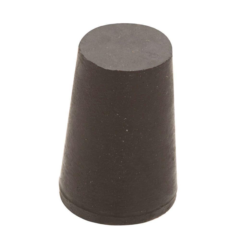 3/4 in. x 9/16 in. Black Rubber Stopper