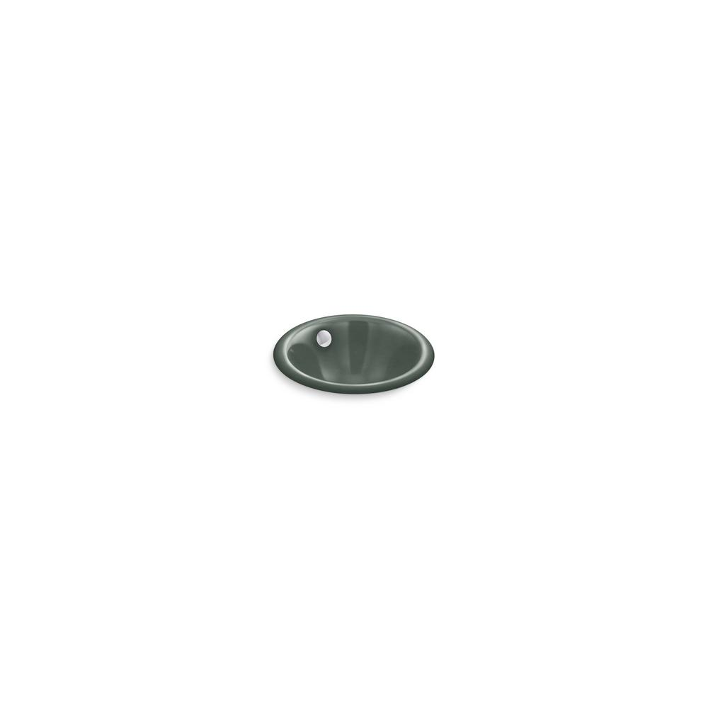 Iron Plains Round 12 in. Drop-In/Undermount Bathroom Sink in Basalt