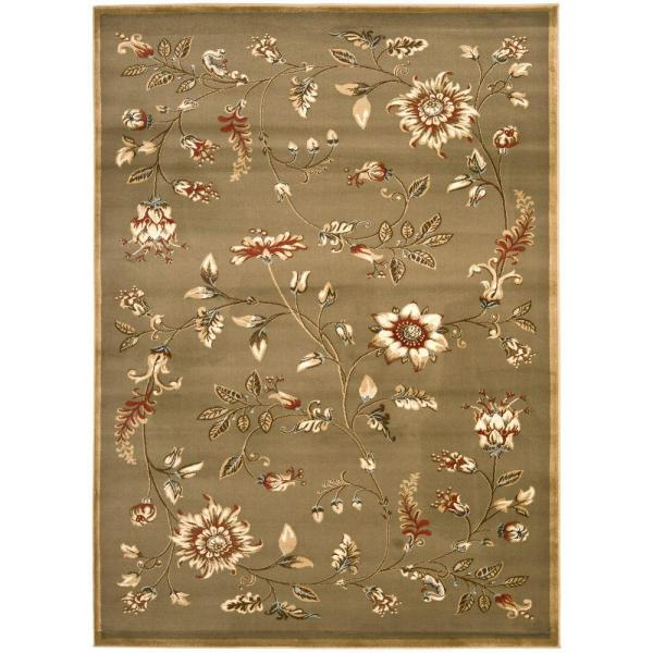 Lyndhurst Green/Multi 9 ft. x 12 ft. Area Rug