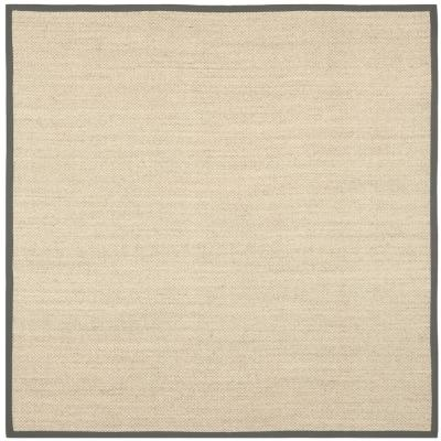 Natural Fiber Marble/Gray 8 ft. x 8 ft. Square Indoor Area Rug