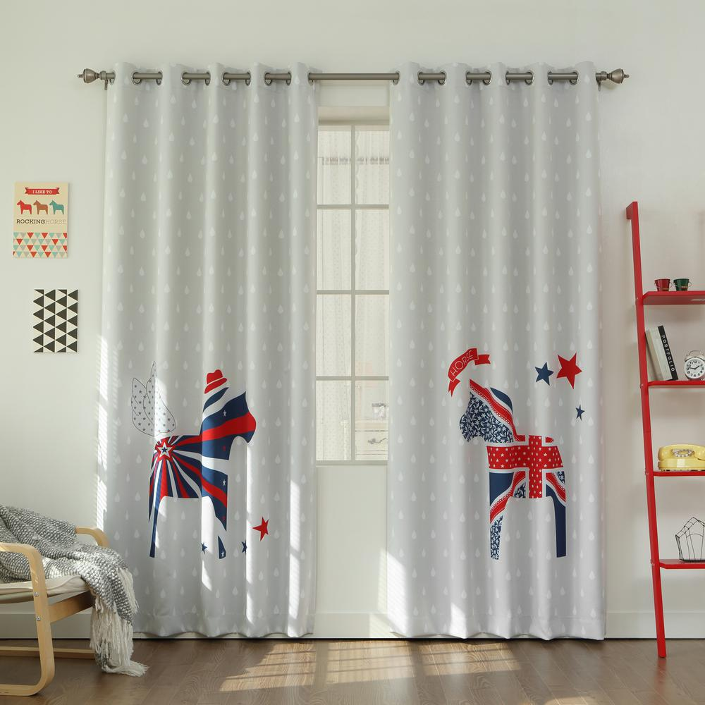 L polyester uk horse room darkening curtains in white
