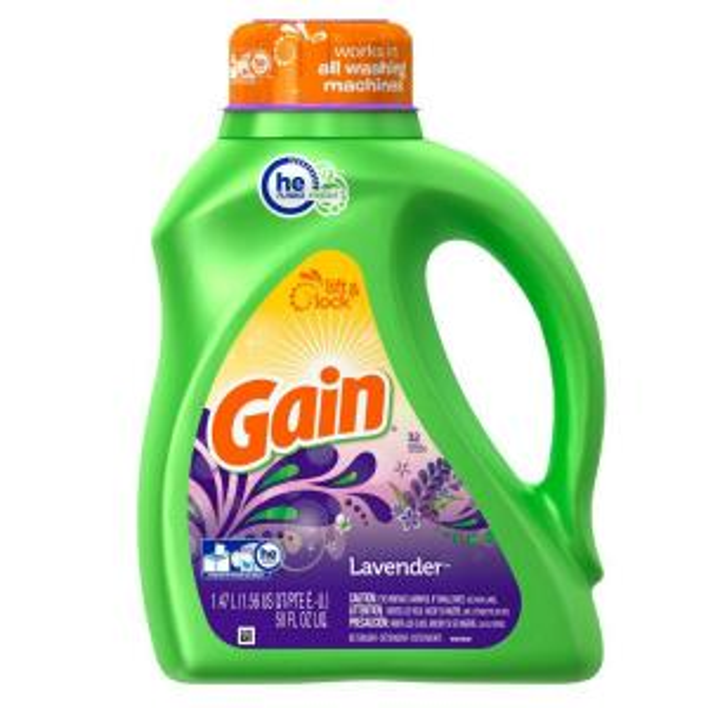 gain 50 oz spring lavender he liquid laundry detergent 32