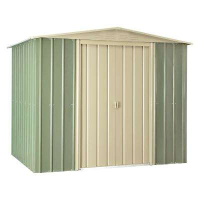 Gable 8 ft. x 6 ft. Mist Green Metal Shed