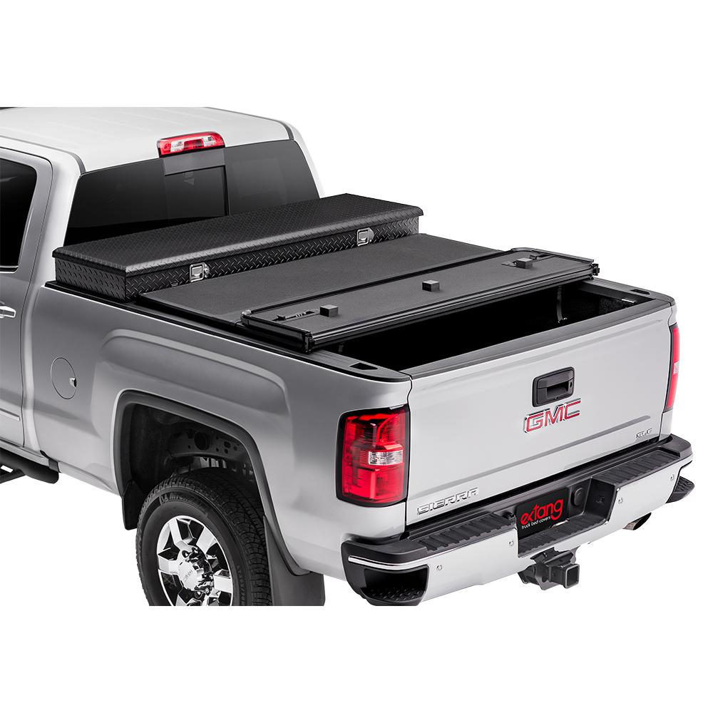 Extang Solid Fold 2 0 Toolbox Tonneau Cover 99 06 07 Classic Chevy Silverado Gmc Sierra 6 6 Bed Fleetside 84940 The Home Depot
