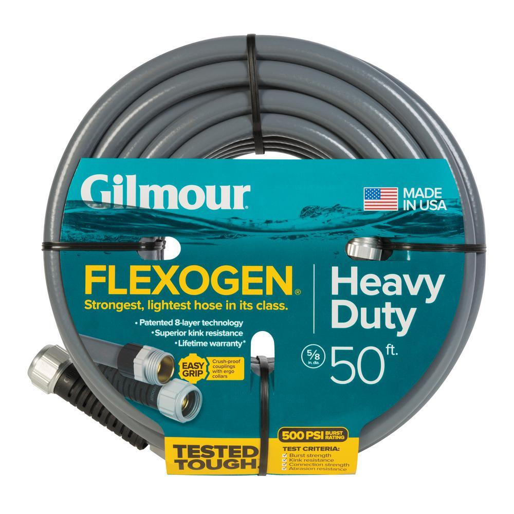Gilmour 5/8 in. Dia x 50 ft. Gray Flexogen Heavy Duty Garden Water Hose