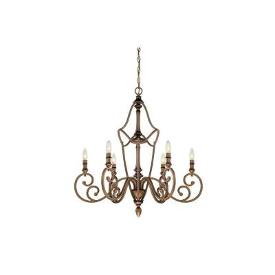 Isla 6-Light Aged Brass Chandelier