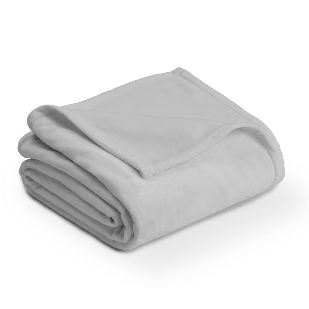 Plush Gray Mist Polyester King Blanket