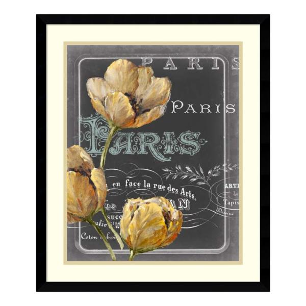 Amanti Art 21 in. W x 25 in. H 'Chalkboard Paris