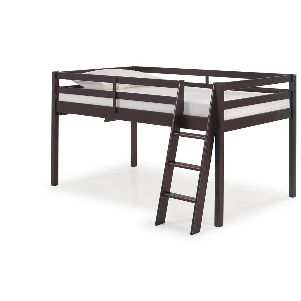 Espresso Bunk Loft Beds Kids Bedroom Furniture The Home Depot