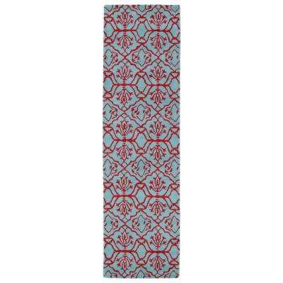 Evolution Pink 2 ft. x 8 ft. Runner Rug