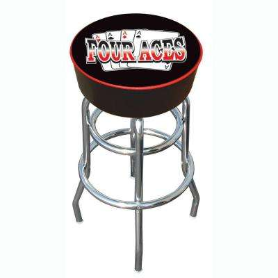 Four Aces 31 in. Chrome Swivel Cushioned Bar Stool