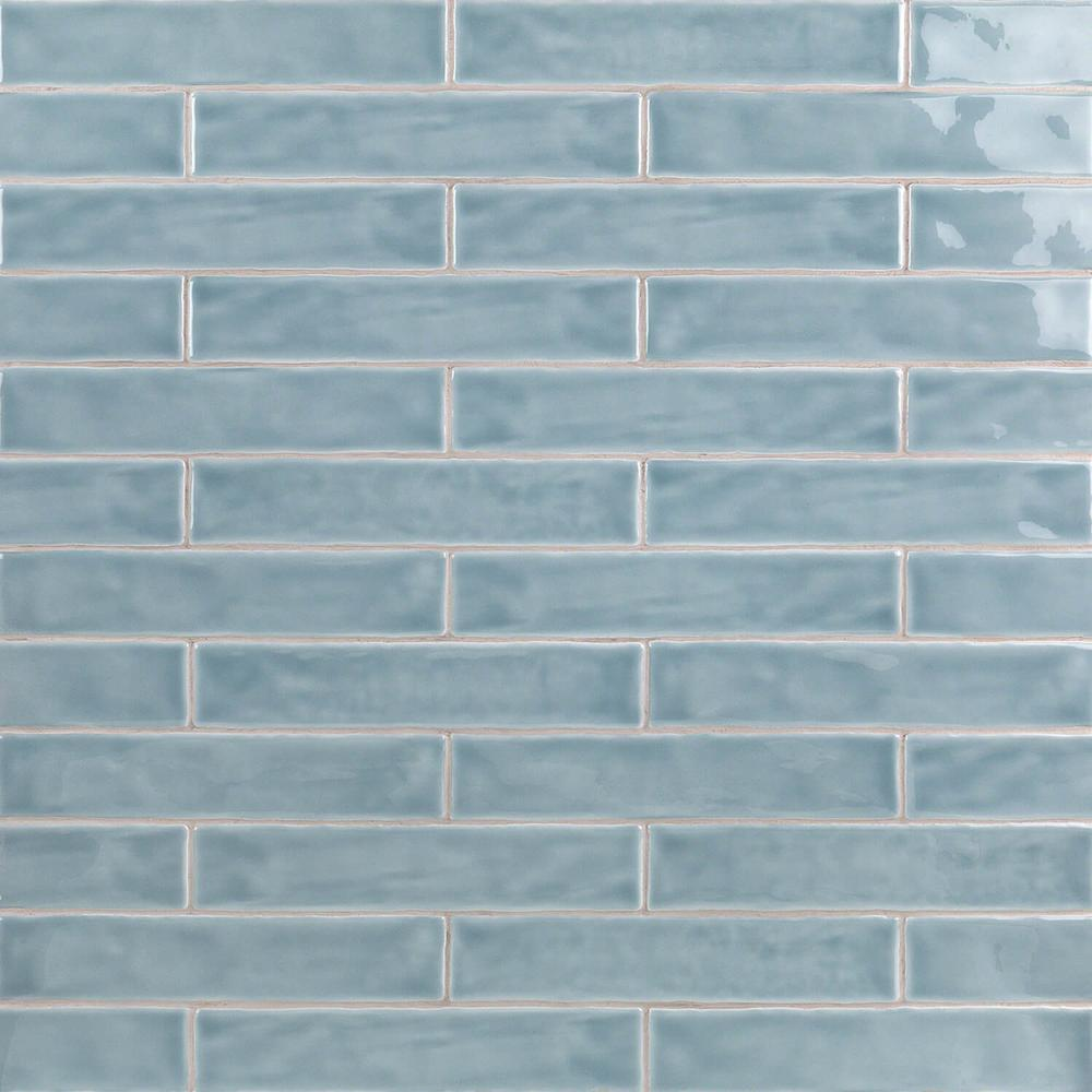 Ivy Hill Tile Newport Light Blue 2 In X 10 11mm Polished Ceramic Subway Wall 40 Pieces 5 38 Sq Ft Box