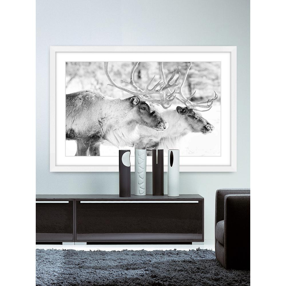 """24 in. H x 36 in. W """"Elk Pair"""" by Marmont"""