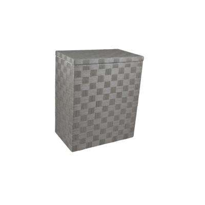 Liberty Charcoal Grey Standard Hamper in 24 Ply Natural Cord, Lined