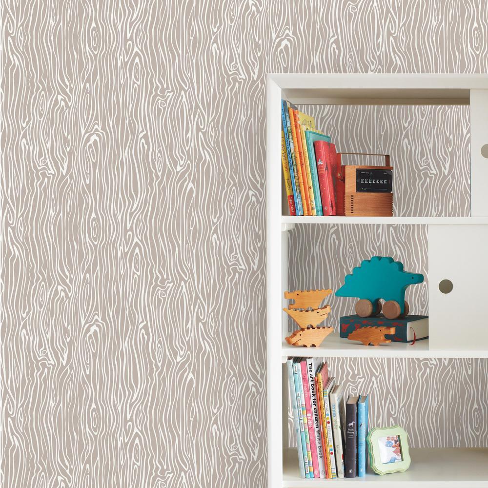 28.18 sq. ft. Wood Grain Peel and Stick Wallpaper