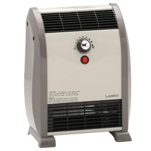 Lasko 1500 watt convection automatic air flow electric portable heater 5812 the home depot - Small portable space heater paint ...