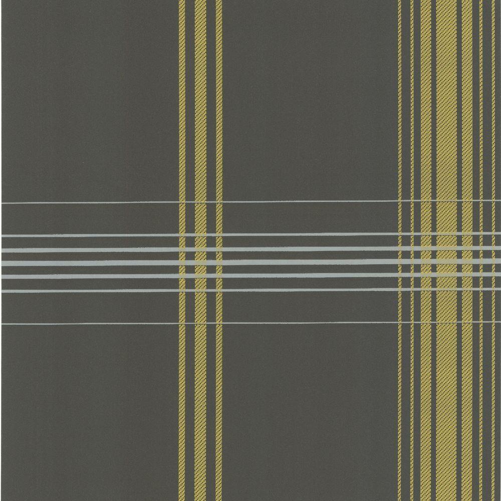 null Oskar Grey Plaid Wallpaper