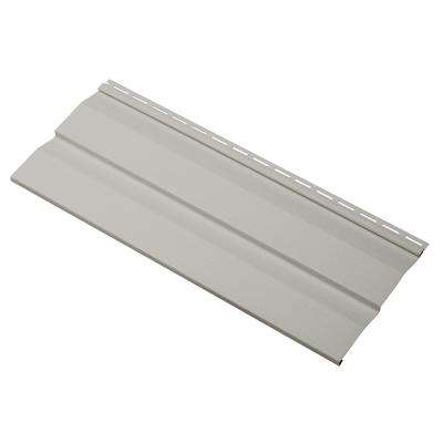 Transformations Double 4.5 in. x 24 in. Dutch Lap in Vinyl Siding Sample in Pewter