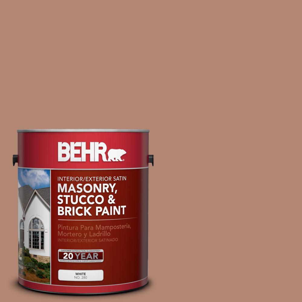 1 gal. #S200-5 Minestrone Satin Interior/Exterior Masonry, Stucco and Brick Paint