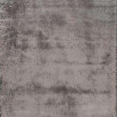Cloud Shag Gray 5 ft. x 5 ft. Square Area Rug