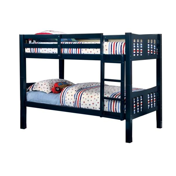 Cameron in Blue Twin Size Bunk Bed