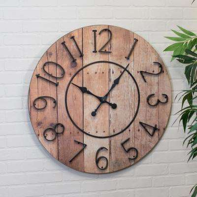 32 in. Round Wall Clock