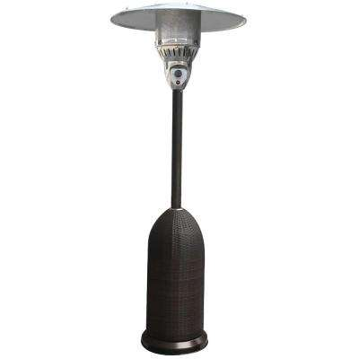 7 ft. 41,000 BTU Black Round Wicker Propane Gas Patio Heater