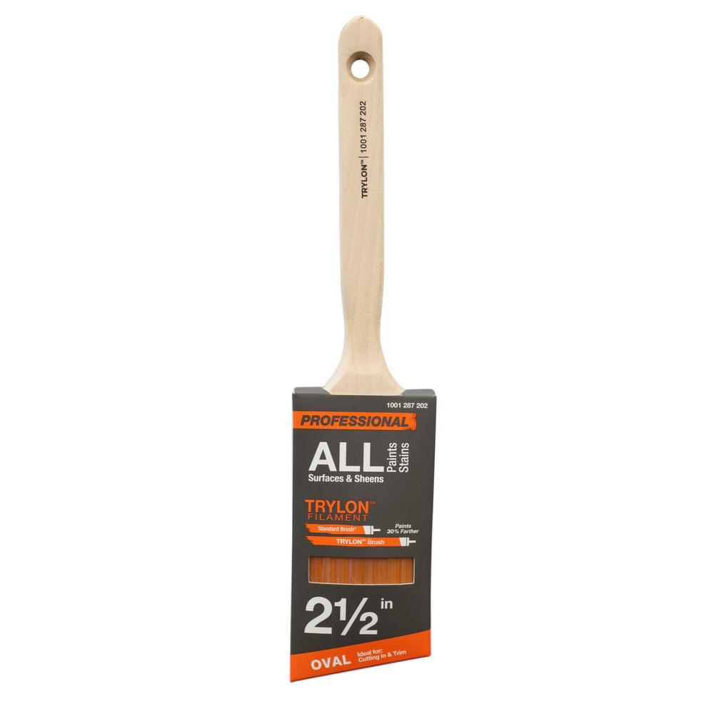PRO 2.5 in. Trylon Oval Angled Sash Paint Brush