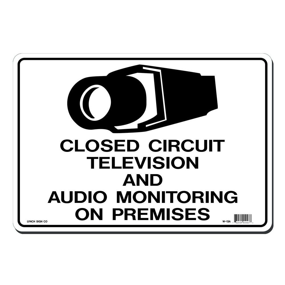14 in. x 10 in. CCTV and Audio Monitoring Sign Printed