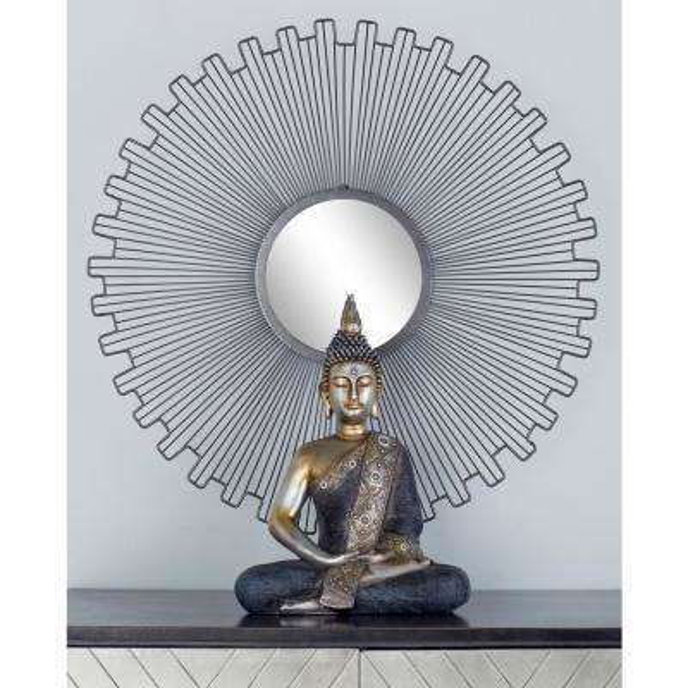 Sunburst Black Decorative Wall Mirrors (Set of 3)