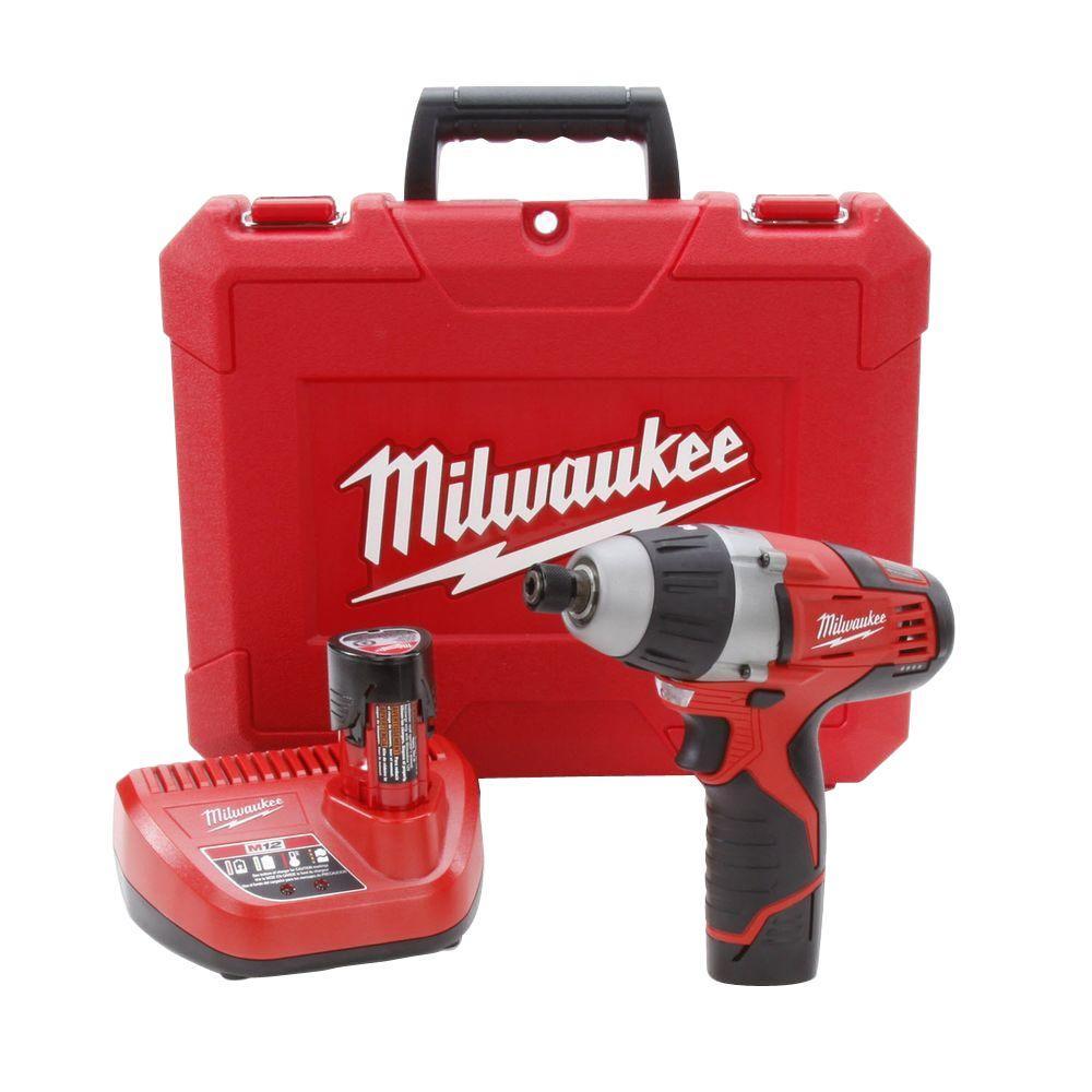 Outdoor Furniture Rental Milwaukee: Milwaukee M12 12-Volt Lithium-Ion Cordless 1/4 In. Hex No