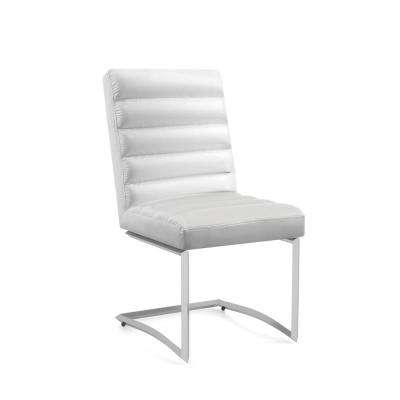 Georgie White Leatherette Tufted Side Chair (Set of 2)