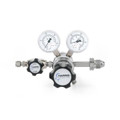 0 PSI to 125 PSI 2-Stage CGA 590 Chrome-Plated, 1/4 in. Compression Fitting, Compressed Air Specialty Gas Lab Regulator