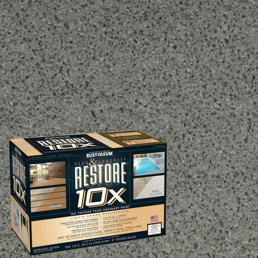Rust-Oleum Restore 2-gal. Gray Deck and Concrete 10X Resurfacer