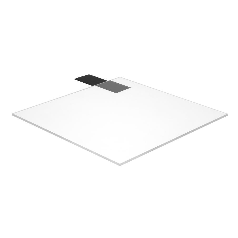 Falken Design 12 in  x 48 in  x 3/8 in  Thick Acrylic Clear Sheet