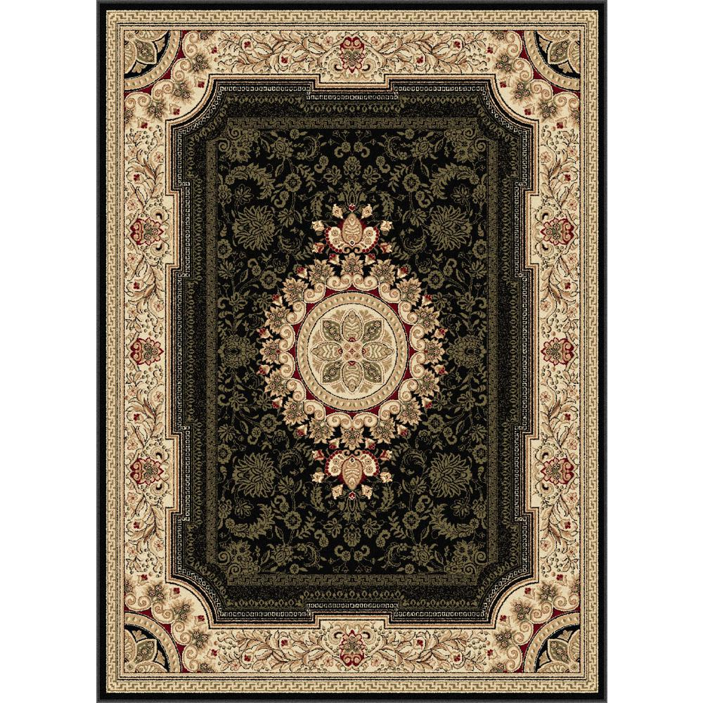 tayse rugs sensation black 10 ft 6 in x 14 ft 6 in transitional area rug sns4673 11x15 the. Black Bedroom Furniture Sets. Home Design Ideas