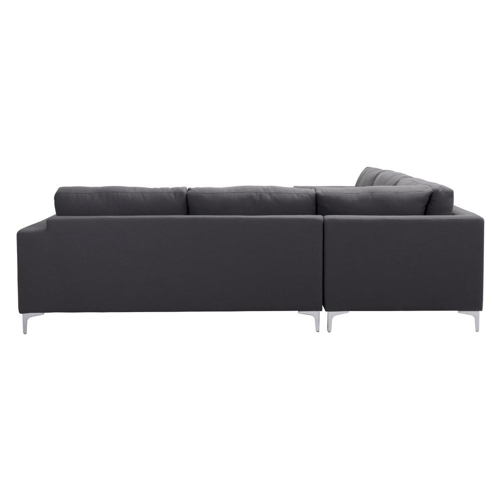 Zuo Charcoal Gray Sectional