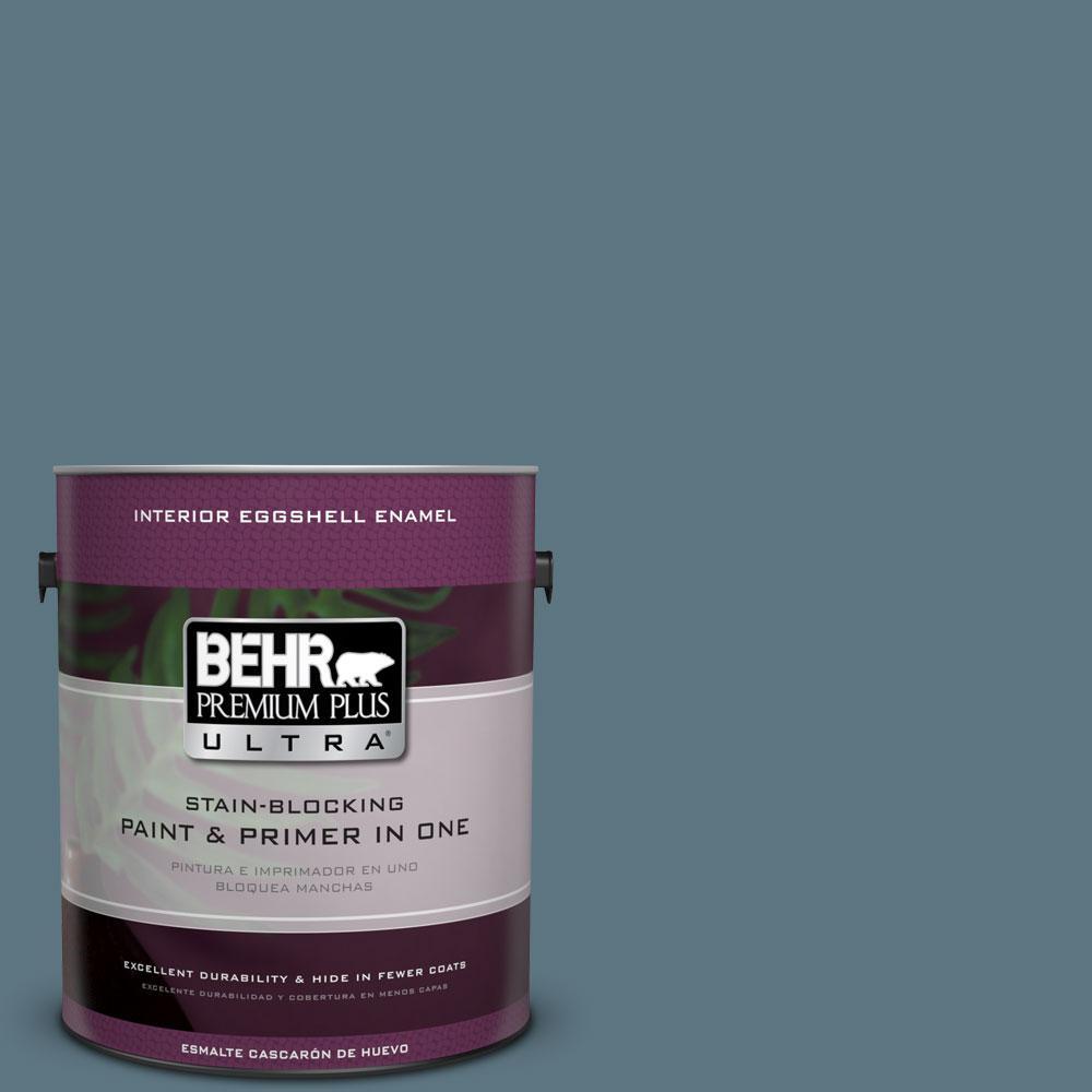 BEHR Premium Plus Ultra 1-gal. #530F-6 Heron Eggshell Enamel Interior Paint