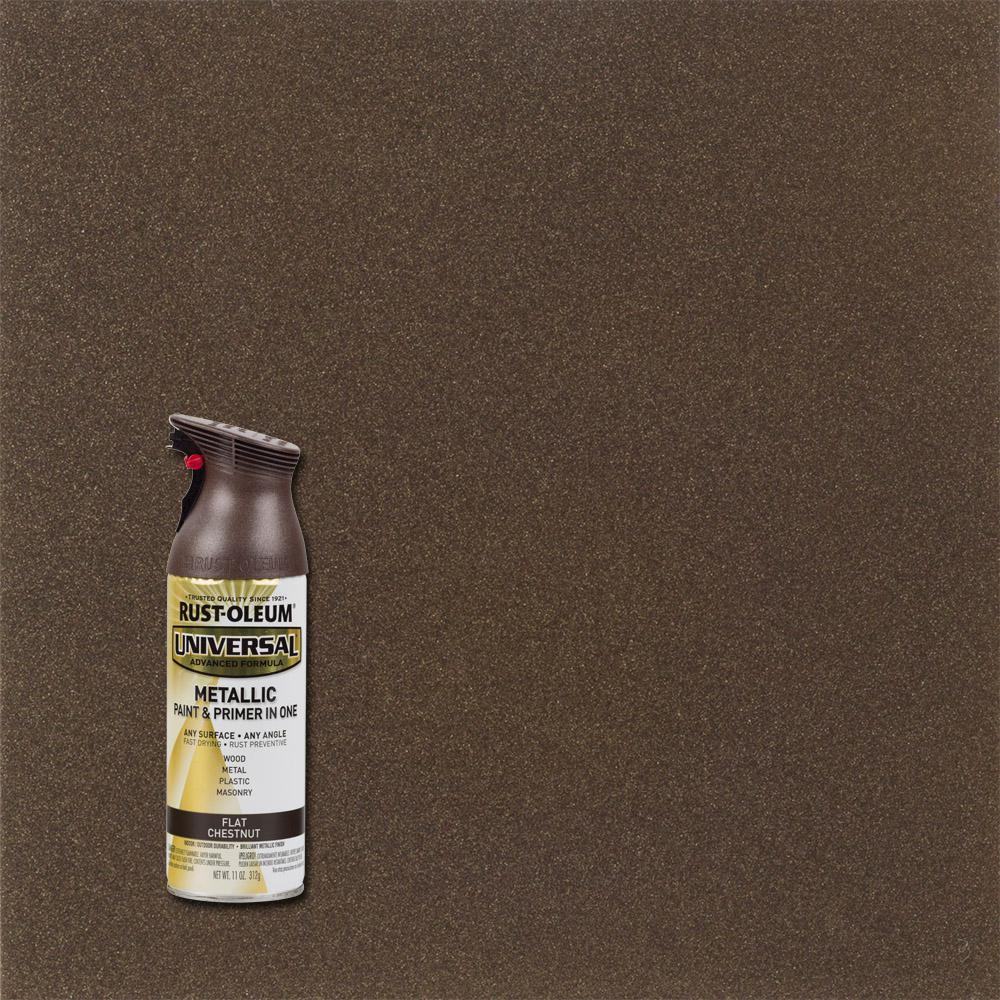 11 oz. All Surface Flat Metallic Chestnut Spray Paint and Primer