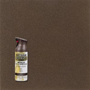 11 oz. All Surface Flat Metallic Chestnut Spray Paint and Primer in One
