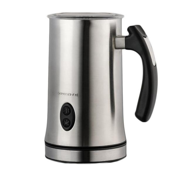 Electric Powered Stainless Steel Milk Frother, Double-Wall Insulated, Frothing & Heating Whisks