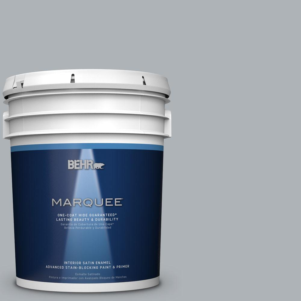 5 gal. #N510-3 Stargazer One-Coat Hide Satin Enamel Interior Paint