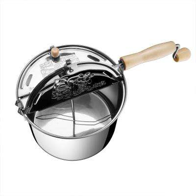 6.5 qt. Stainless Steel Stove Top Popcorn Popper